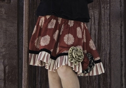 Persnickety Gorgeous Holiday Rosette Twirling Skirt *FINAL SALE*