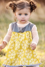 "Persnickety ""October Sky"" Precious Yellow Avery Top"