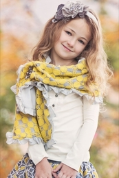 "Persnickety ""October Sky"" Yellow Scarf"