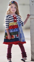 "Persnickety ""Penny Lane"" Multi Bristol Dress"