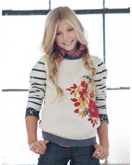 """Persnickety """"Penny Lane"""" Multi Flora Sweater-SOLD OUT!"""