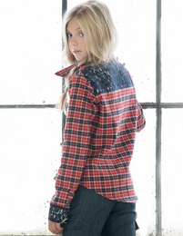 "Persnickety ""Penny Lane"" Plaid Blair Top- NEW!  TEEN SIZES *PREORDER*"