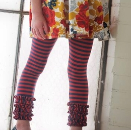 "Persnickety ""Penny Lane"" Red Stripe Gracie Legging"