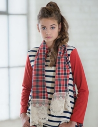 "Persnickety ""Penny Lane"" Ruby Scarf - NEW! TEEN SIZES"