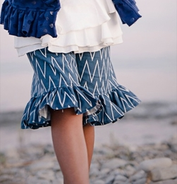 "Persnickety ""Sail Away"" Blue Mae Zig Zag Long Shorts<br>Sold Out!"