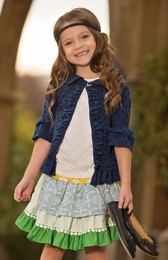 "Persnickety ""Sail Away"" Gorgeous Blue Stella Jacket<br>Sizes 4-8"