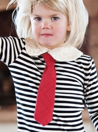 Persnickety Super Sassy UNISEX HOLIDAY Red Necktie *FINAL SALE*