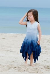 "Pixie Girl Dip Dye Blue ""Windy Day"" Halter Neck Dress"