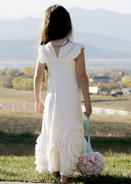 "Pixie Girl ""Grace"" Stuning Ivory Long Dress"