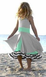 "Pixie Girl Seafoam & Gray Antebellum ""Set Sail"" Knit Dress SOLD OUT!"