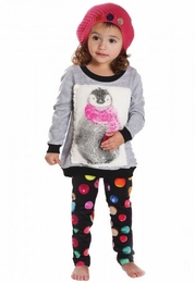 "Rock & Clay ""Fuzzy Penguin"" Minky Soft Two Piece Set"
