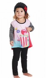 "Rock & Clay ""Lolli-pop-corn"" Two Piece Swing Top & Legging Set ""PREORDER"""