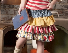 Sado Back to School Ruffle Layered Skirt *PREORDER*