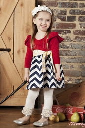 Sado Chevron Jewels Beautiful Baby Doll Dress *PREORDER*