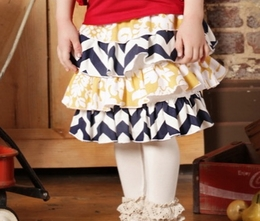 Sado Chevron Jewels Ruffle Layer Skirt *PREORDER*