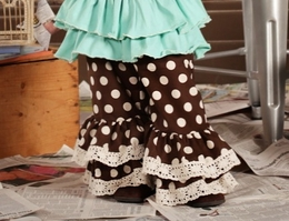 Sado Hodge Podge Dot Ruffle Holiday Pants *PREORDER*