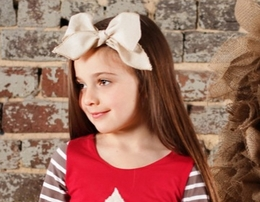 Sado Irrisistable Natural Linen Bow Headband