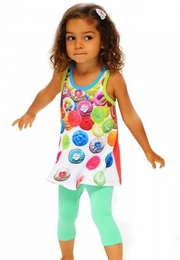 Sara Sara Neon Falling Cupcakes Two Piece Set