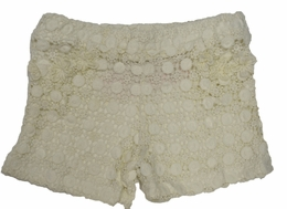 "Tru Luv Ivory ""Love Child"" Super Sweet Lace Shorts <br>Sizes 4 - 10"