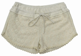Tru Luv Oatmeal Daisy Lace Shorts *PREORDER*