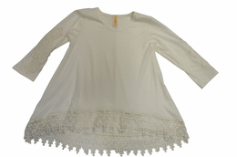 Tru Luv Perfect Ivory Lace Tunic*PREORDER*