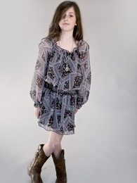 "Truly Me Adorable ""Daphne"" Printed Dress *FINAL SALE*"