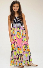 Truly Me Maxi Dress w/Stripe Concave Bodice SOLD OUT!