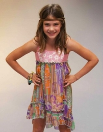 """Truly Me """"Mixed Media"""" High Low Dress *FINAL SALE*"""