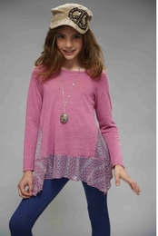 Truly Me Pink Juliet Tunic Top w/Floral Sides SOLD OUT!