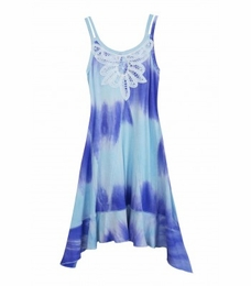 "Truly Me Purple ""Quartz"" Tye Dye Knit Dress<br>Size 7 - 16"
