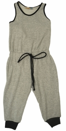 Vintage Havana Grey Knit Drawstring Jumpsuit