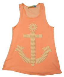 Vintage Havana Pale Orange Anchor Tank Top