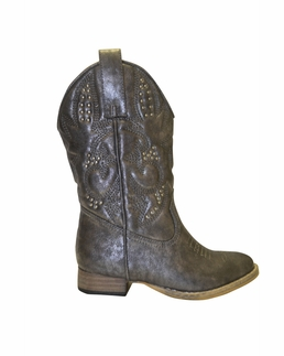 """Volatile Gorgeous Pewter """"Clayton"""" Western Boot *SOLD OUT"""