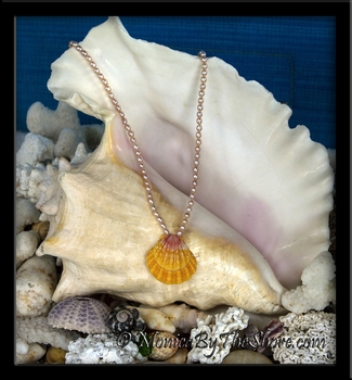 Classic Hawaiian Sunrise Shell Pink Pearl Necklace