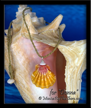 "Custom ""Big Country"" Style Hawaiian Sunrise Shell and Puka Shell Necklace for ""Donna"""