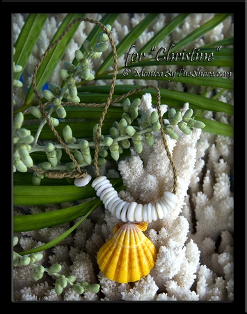 Custom Made to Order Sunrise Shell & Puka Shell Neckalces
