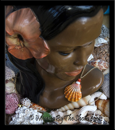 "Custom Set Hawaiian Sunrise Shells Necklace, Earrings and Ring for ""James"""