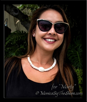 """Custom Granulated """"Bumpy"""" Cowrie & Chunky Puka Shells Necklace for """"Marty"""""""