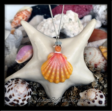 "Mini ""Beach Candy"" Hawaiian Sunrise Shell Sterling Silver Necklace"