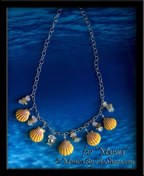 "Whole Pair Hawaiian Sunrise Shell and Gemstone Necklace for ""Marcia"""