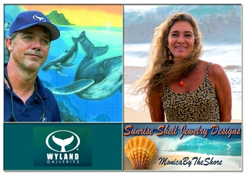 WYLAND Galleries of Hawaii Beachwalk Honolulu Exclusive Line of MonicaByTheShore Sunrise Shells Jewelry