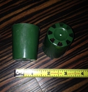 "1.5"" round rimless pot - green"