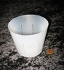"4"" clear round rimless pot"