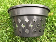 "11"" round black net basket"