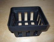 "Black Plastic Vanda Basket - 4"" square"