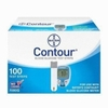 Bayer Contour Glucose Test strips 100Ct. Nfrs Short Dated