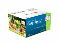 "Easy Touch 29g; 1/2cc; 100ct; (1/2"" in) Syringes"