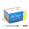 "Easy Touch 31g; 1/2cc; 100ct; 8mm (5/16"" in) Syringes"