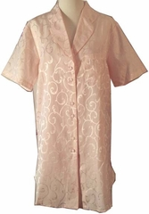Breasilk Petal Pink Silk & Cotton Sleep shirt