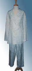 Celaist Silk & Cotton Jacquard Scroll Pajama